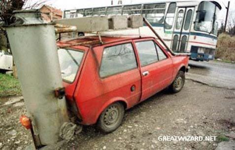 Can a Yugo do 121 mph in a church parking lot?
